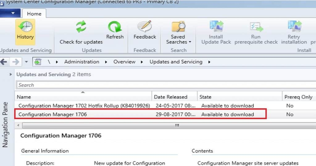 ConfigMgr SCCM CB 1706 Slow Ring is Available
