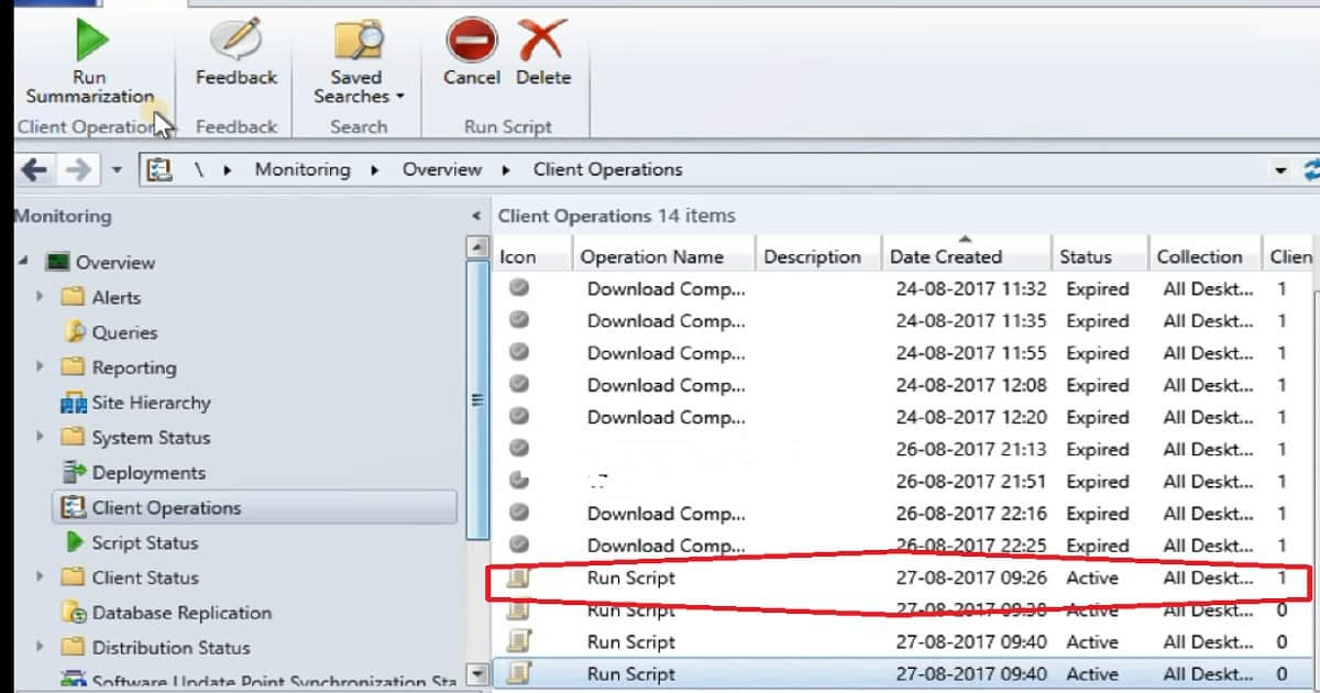 SCCM Run Scripts - Realtime Deployment Options - anoopcnair com