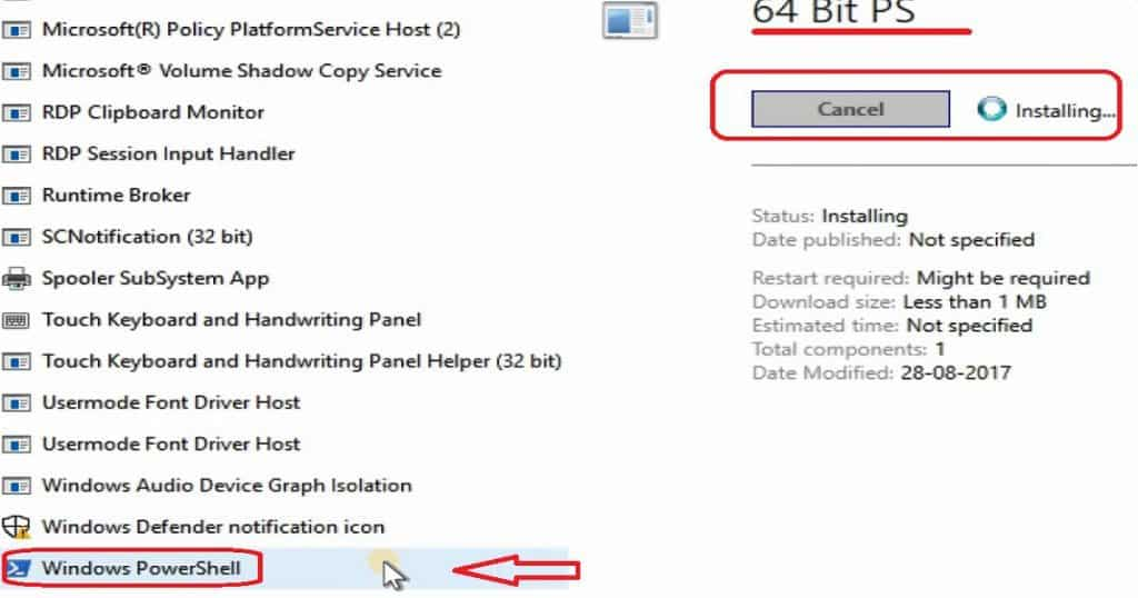 SCCM CB Package Runs in 32 Bit and Application in 64 Bit Context