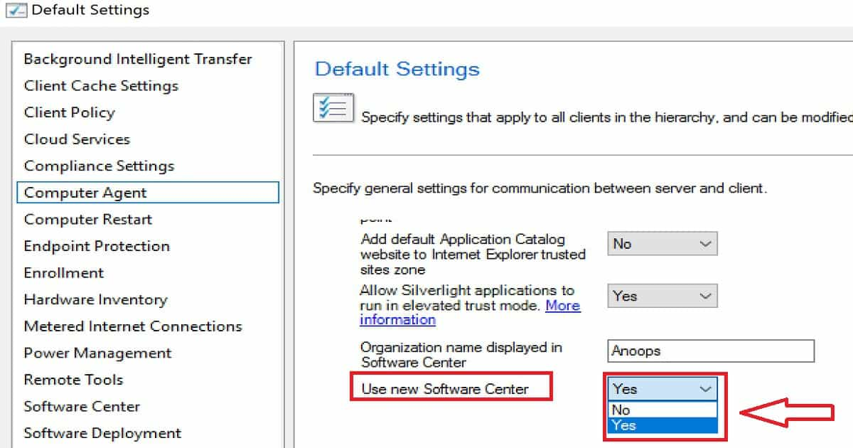 Video Experience SCCM CB How to Hide Tabs in New Software
