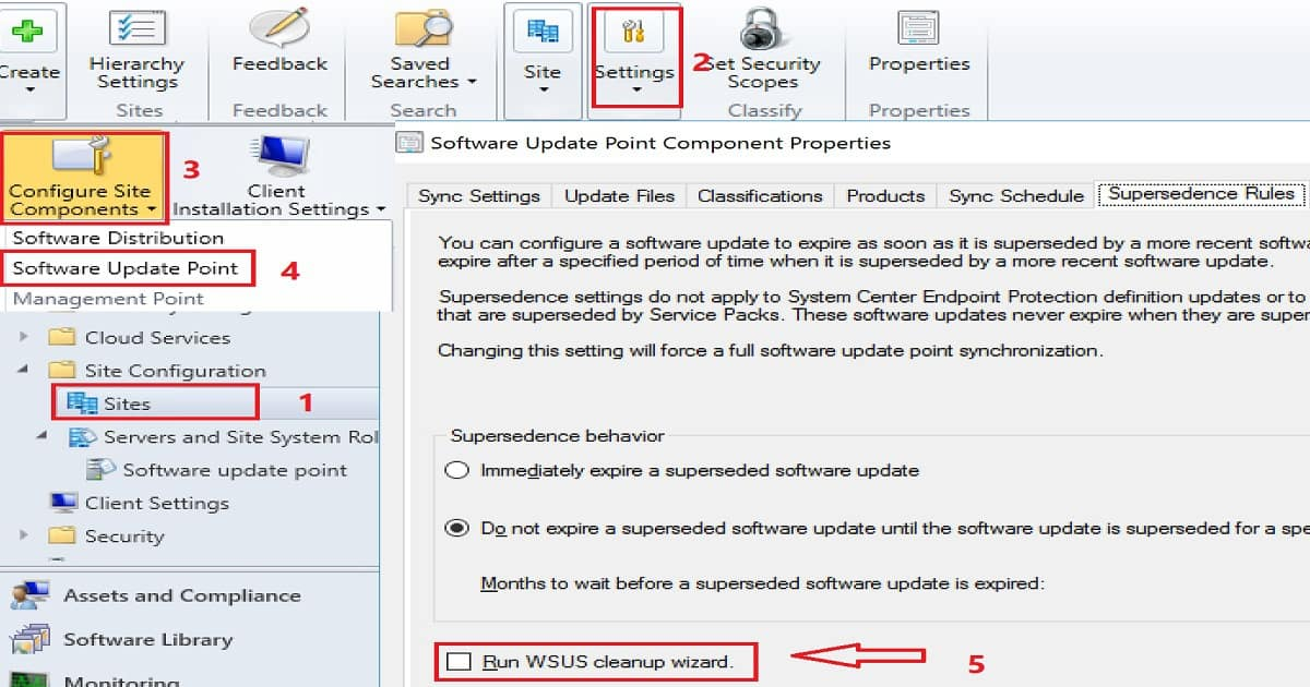 How to Setup WSUS Cleanup Task from SCCM console