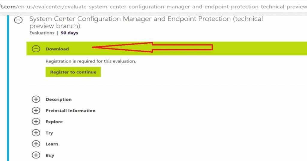 Download SCCM ConfigMgr 1710 PREVIEW Version
