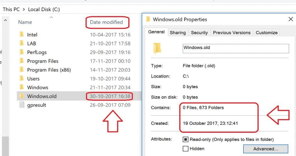 How to Delete Windows.OLD Folder from Windows 10 Device