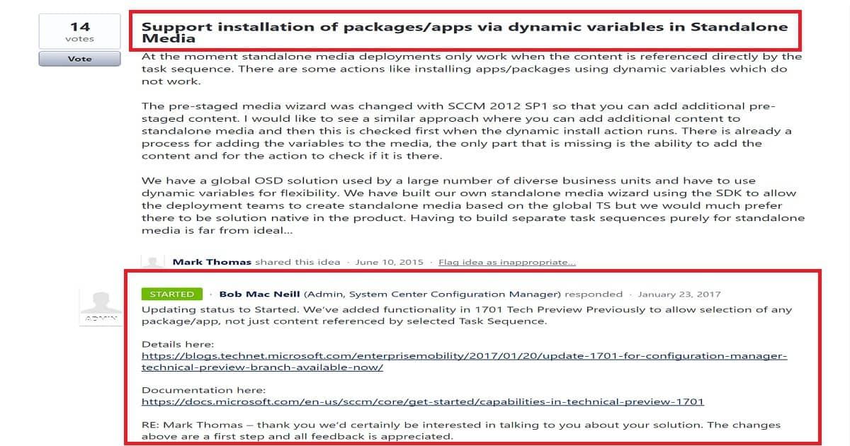 Install Dynamic Applications using SCCM CB Full Standalone Media