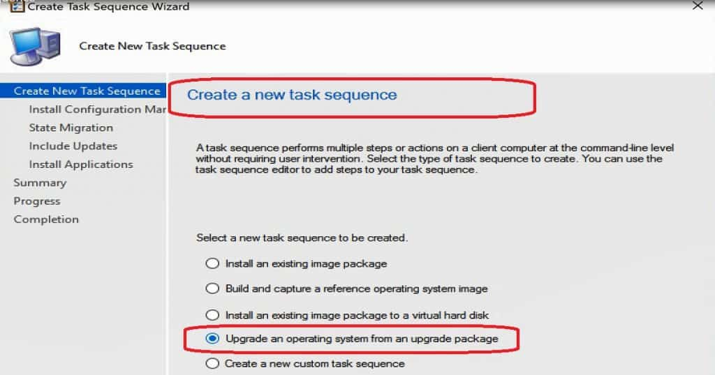 How to Create SCCM Windows 10 1709 In-Place Upgrade Task Sequence