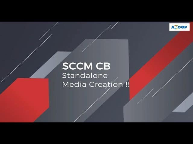 Install Dynamic Applications using SCCM CB Full Standalone Media 1