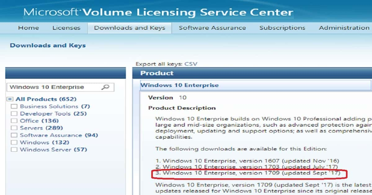 Windows 10 Enterprise with licence key