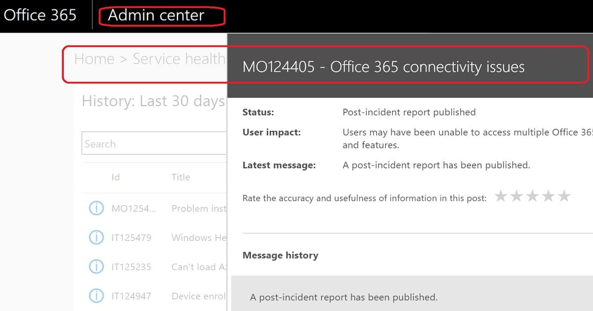 Office 365 Monitoring and Dashboards in SCOM