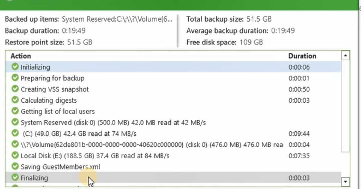 Windows Server 2016 Backup Solution from Veeam