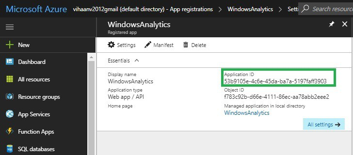 Azure application ID