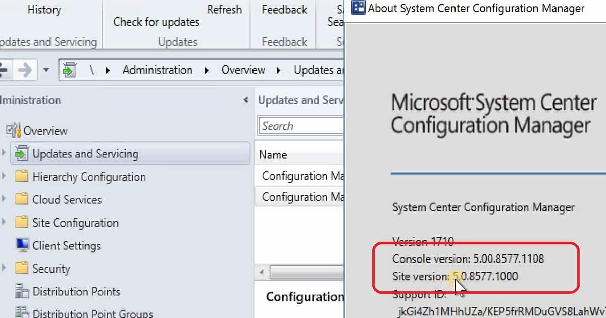 Install Hotfix KB4057517 of SCCM CB 1710