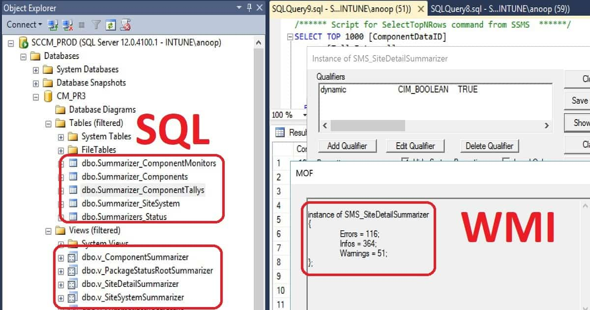 SCCM Site Component Status Summarizers Troubleshoot Issues