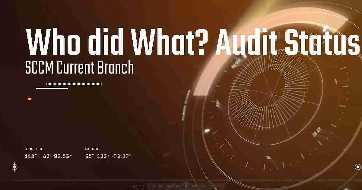 SCCM Audit Status Messages