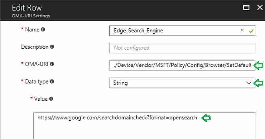 How to Set Google as Default Search Engine with CSP Intune Profiles 1