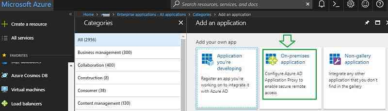 Azure On-premise application