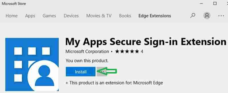 My Apps Secure Sign-in extension