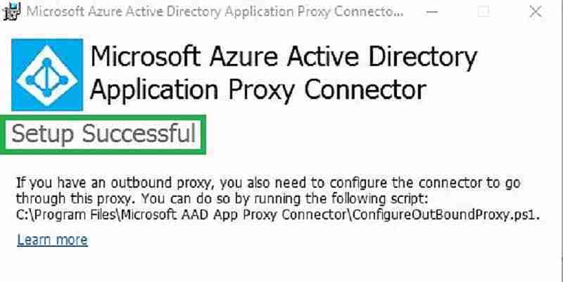Microsoft Azure active directory application proxy connecter