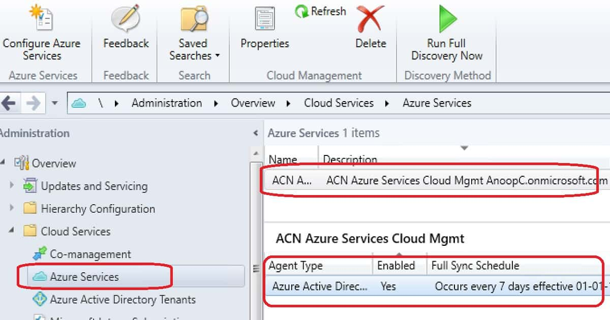 Co-Management CMG Azure AD Discovery