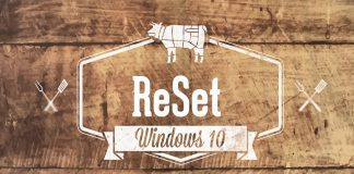 Reset Windows 10 1803