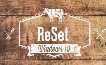 Reset Windows 10 1803