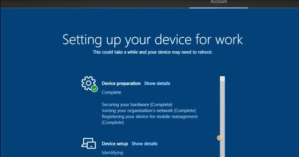 Windows AutoPilot Deployment Enrollment Status Page Device Prep