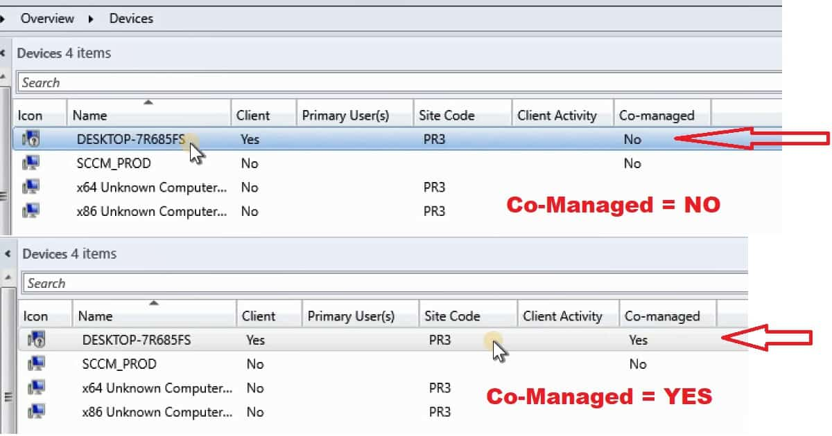 End User Experience of Windows 10 Co-Management