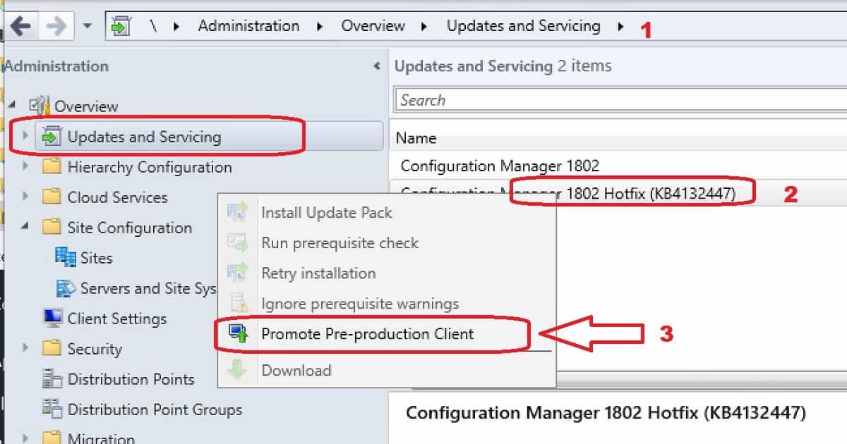 Promote Pre-Production Client - SCCM Client Upgrade