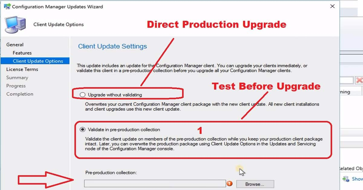 Promote Pre-Production Client - SCCM Client Upgrade