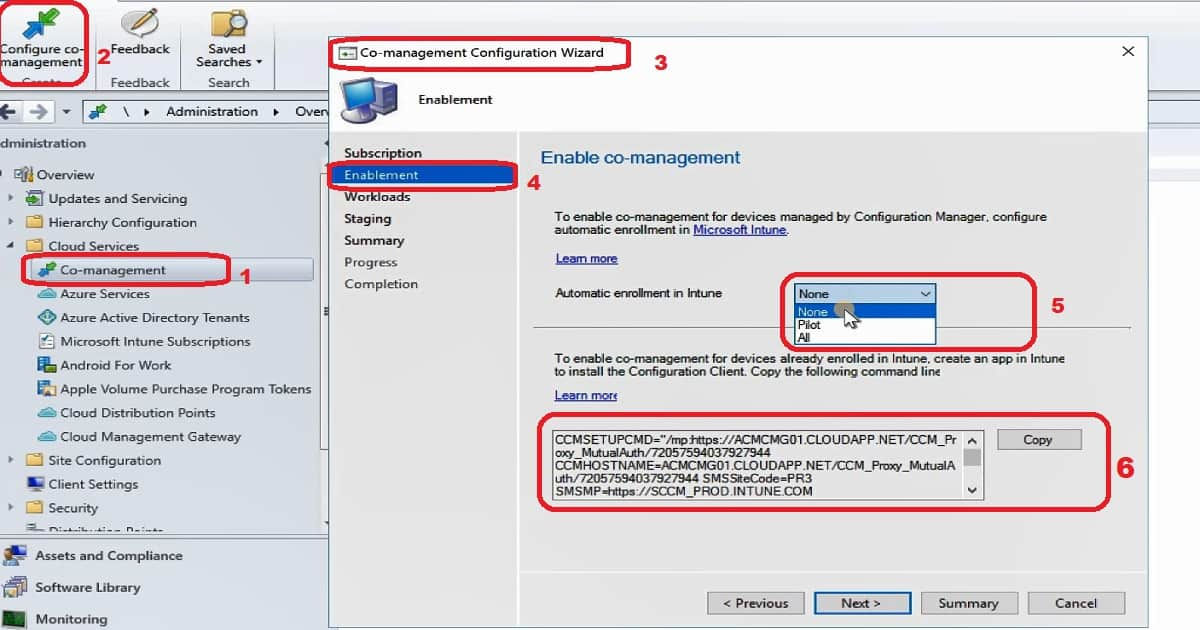 SCCM Co-Management Pilot Production Options