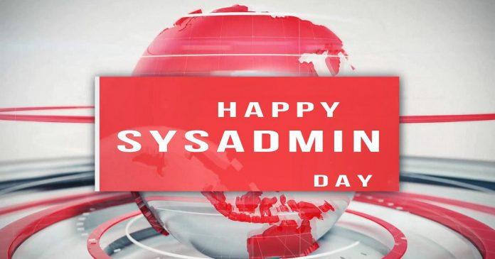 Happy SysAdmin Day 2018
