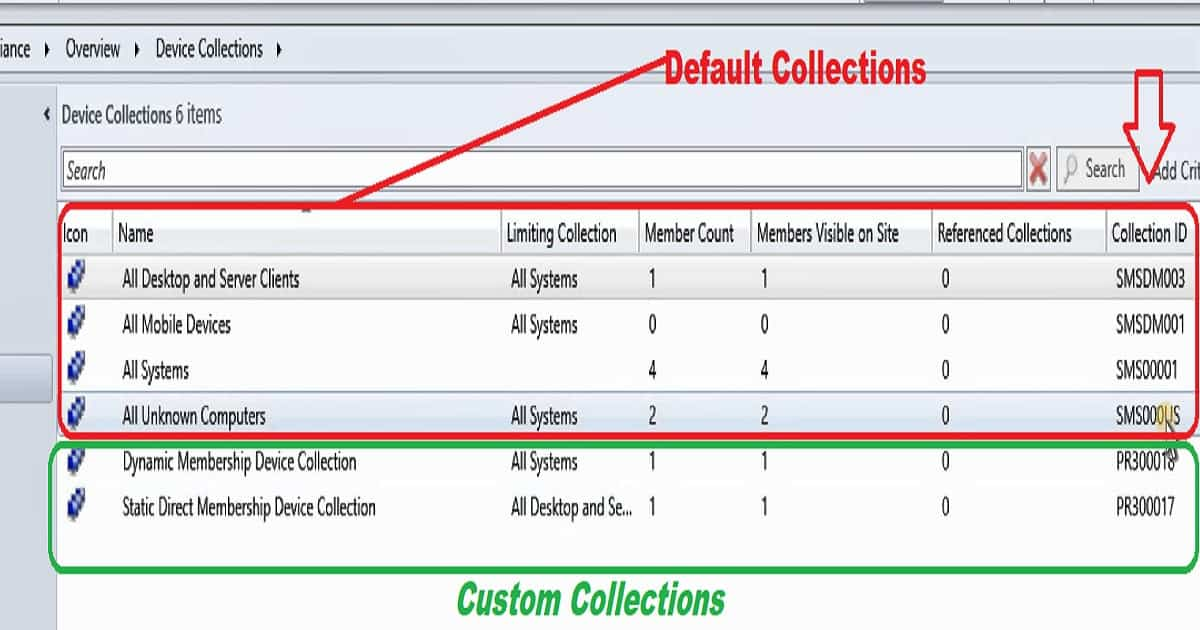 Static Collection SCCM - SCCM collections