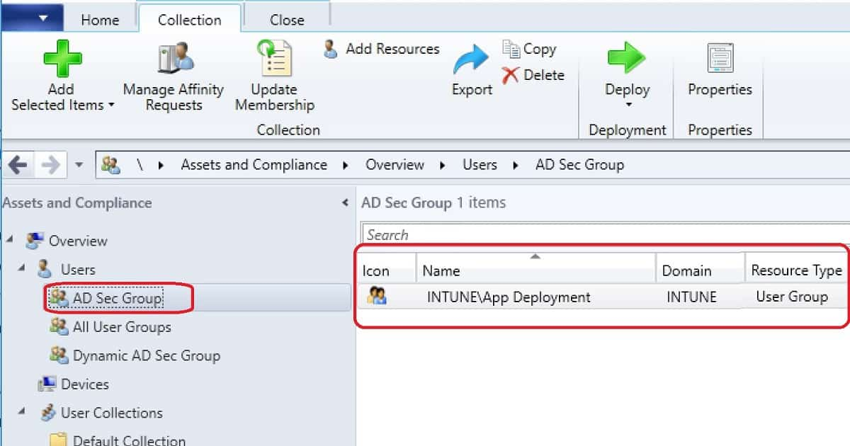 AD Group Based SCCM Collection