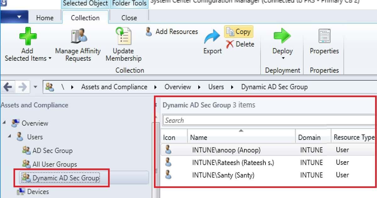 Create AD Group Based SCCM Collection