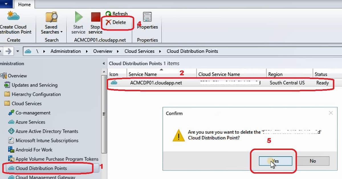 Remove SCCM Cloud DP
