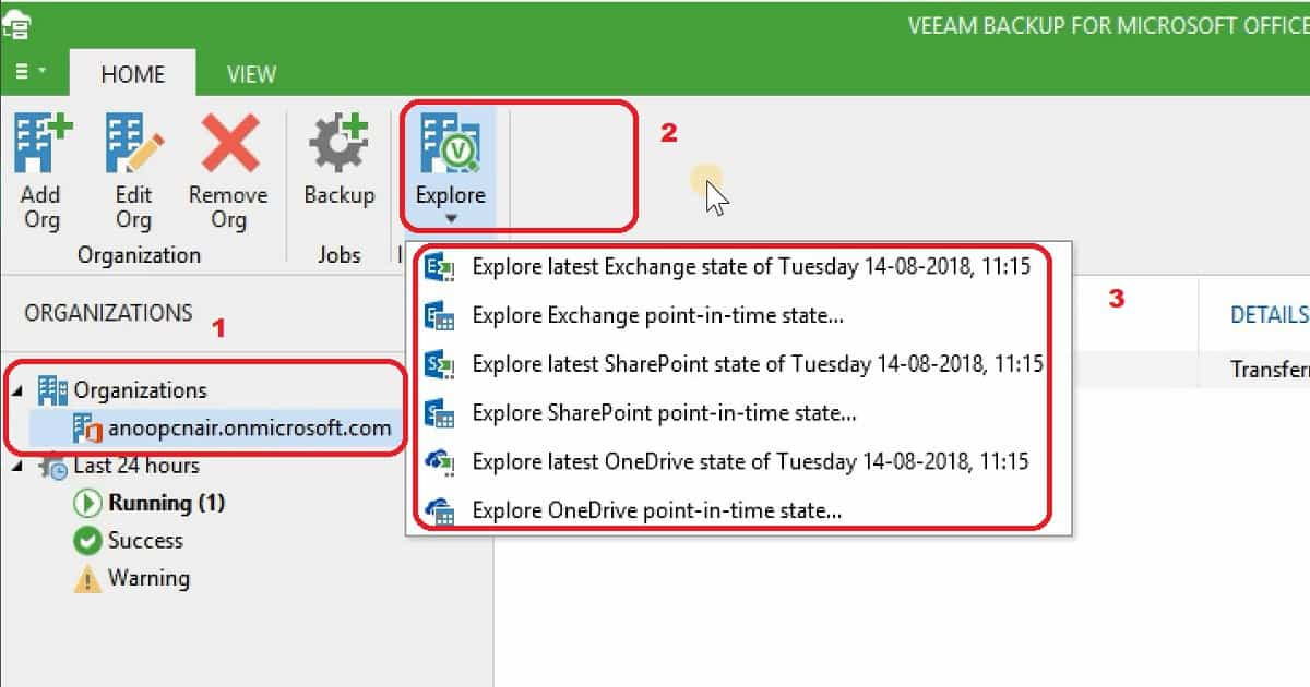 Recover Email OneDrive SharePoint