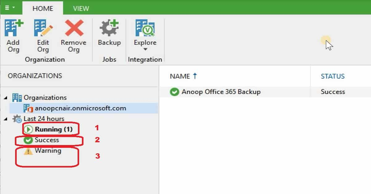 Backup Email OneDrive SharePoint Data