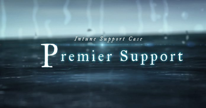 Raise Premier Support Case for Intune