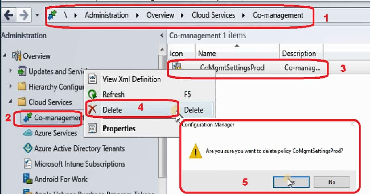 Remove SCCM CMG - Co-management