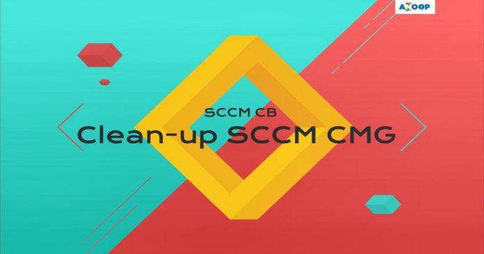 Remove SCCM CMG