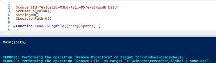 SCCM Cache Clean Up Script