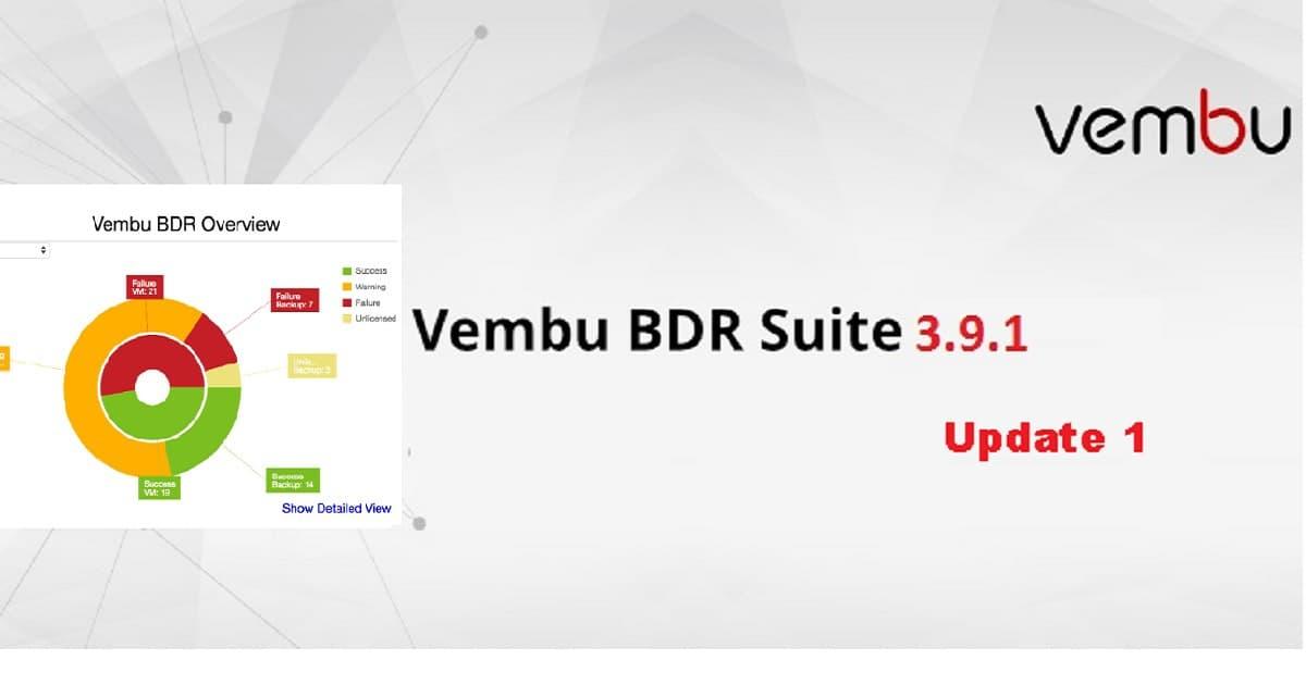 Vembu BDR Suite V3.9.1