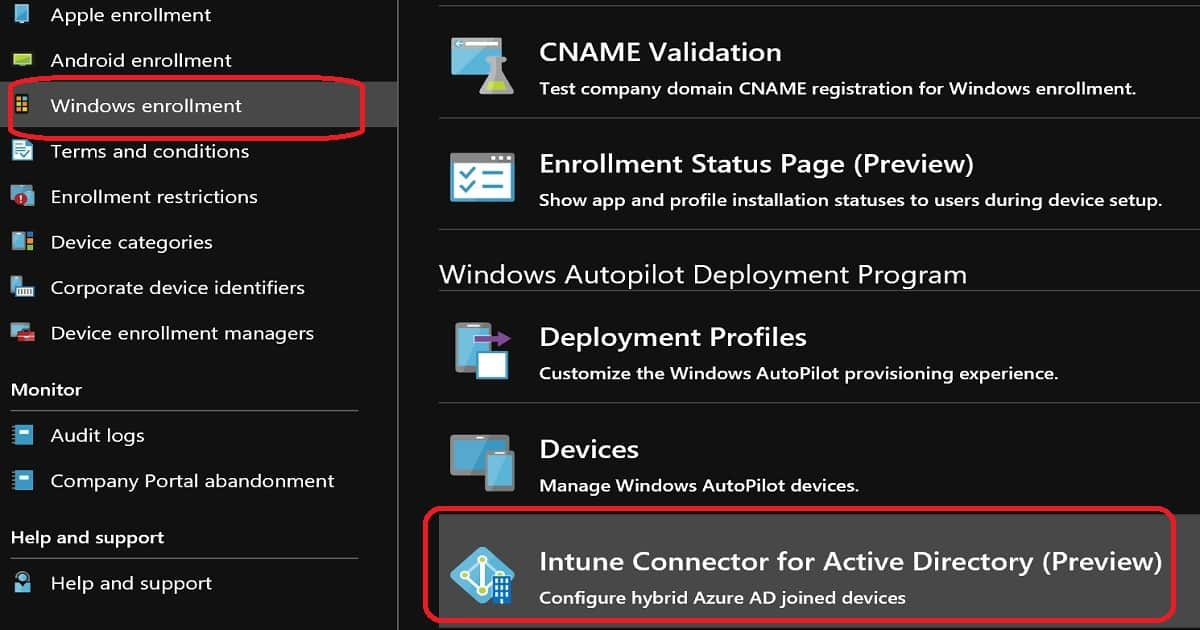 Windows Autopilot Intune Connector for Active Directory (ODJConnector)