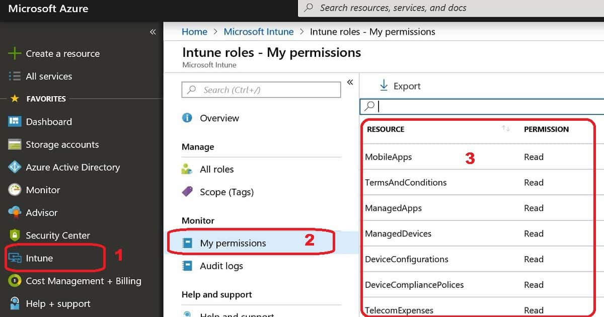 Intune Read-Only Admin - Scoped Admin Permission