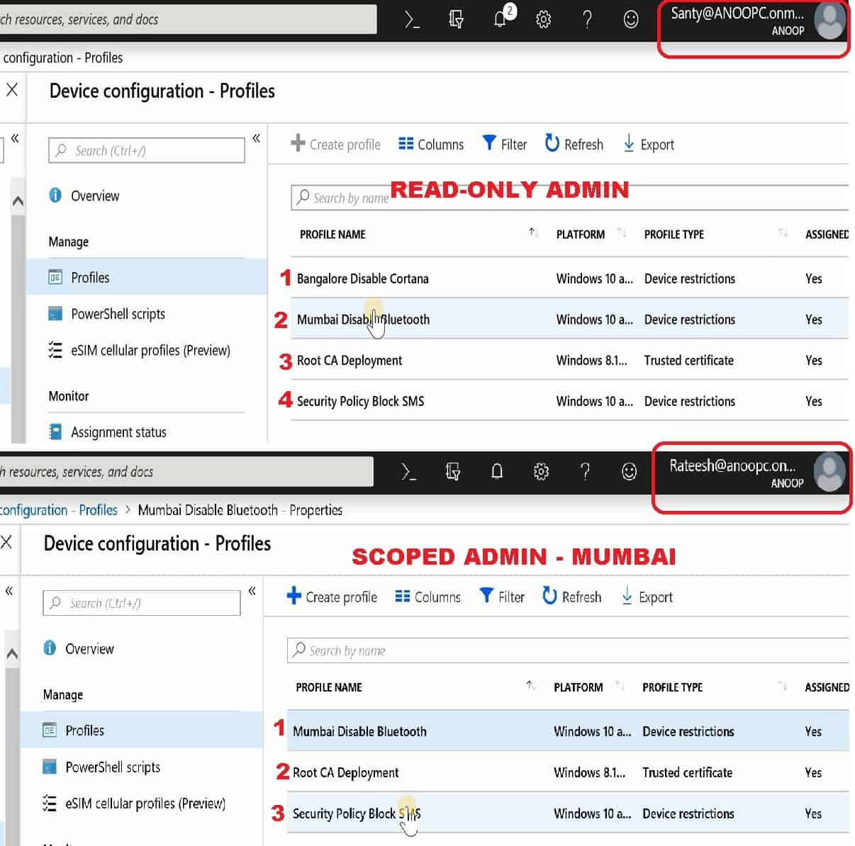 Intune Read-Only Admin - Scoped Admin