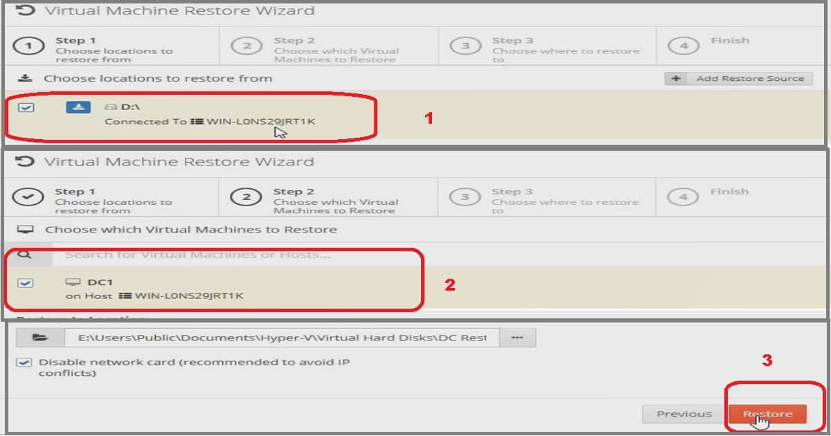 Hyper-VM Restore as Clone