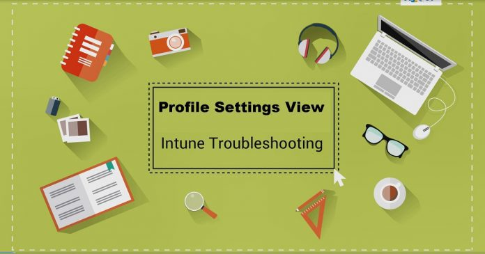 Configuration Profile Settings Intune Profile Per Setting View