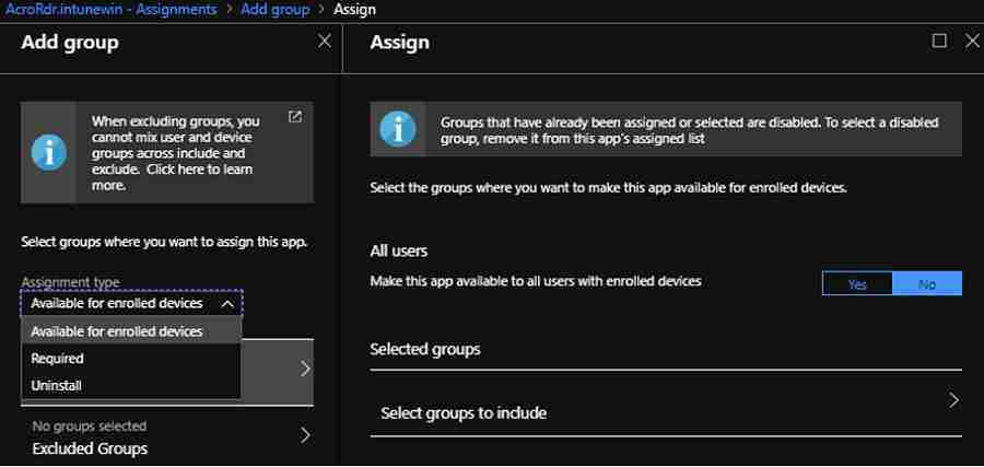 Intune Win32 App Deployment using Modern Management 10