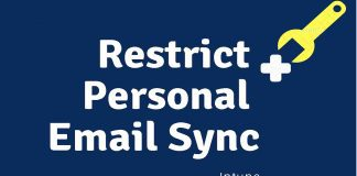 Restrict Personal Email Sync