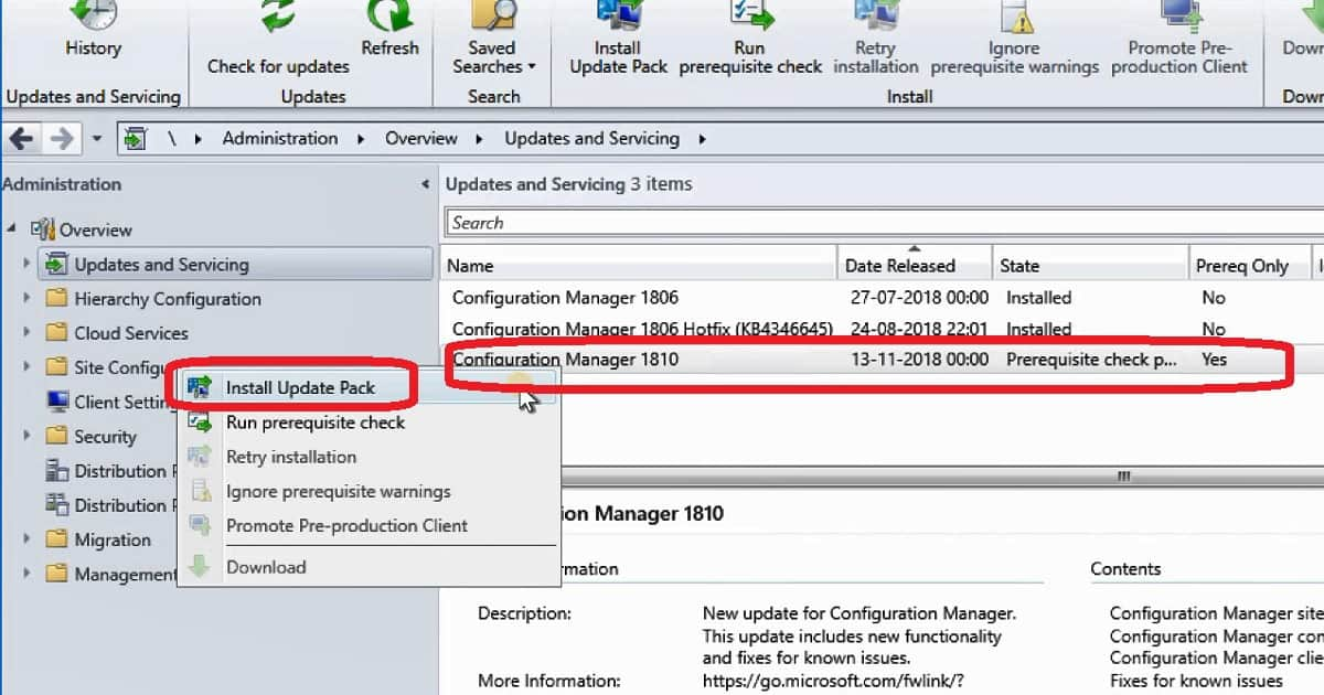 SCCM 1810 Upgrade 6