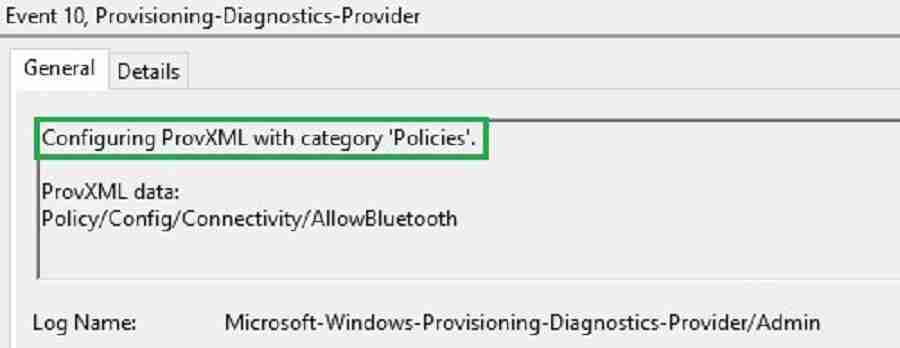 Provisioning-Diagnostics-provider Bluetooth